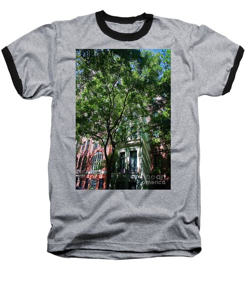 Baseball T-Shirt featuring the photograph Manhattan Upper East Side Late Summer by Andy Prendy