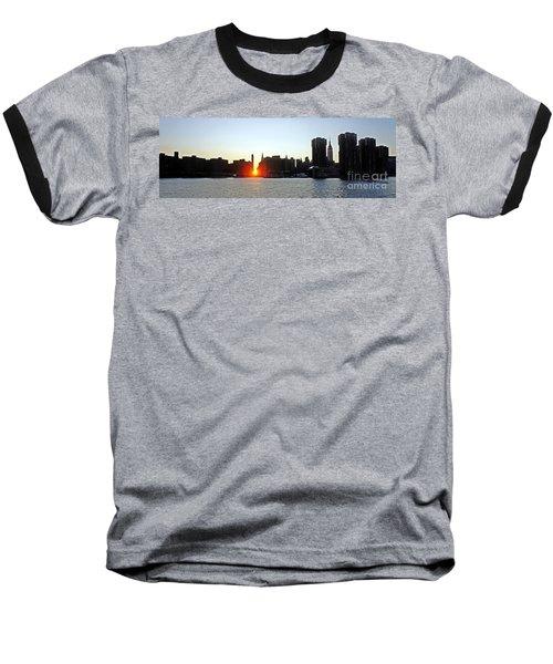 Baseball T-Shirt featuring the photograph Manhattanhenge 2011 by Lilliana Mendez