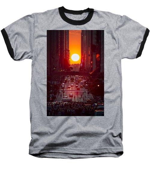 Manhattanhenge Baseball T-Shirt