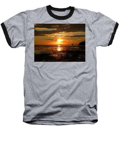 Baseball T-Shirt featuring the photograph Manitoba Sunset by James Petersen