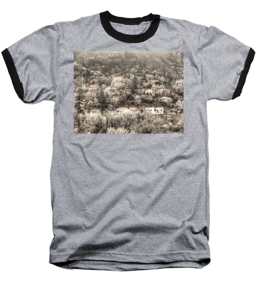 Manitou To The South In Snow Close Up Baseball T-Shirt