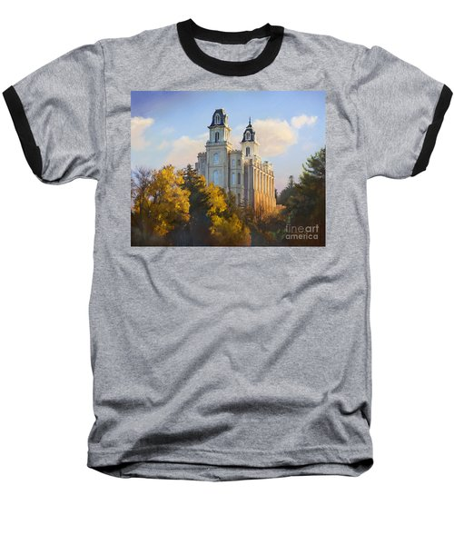 Manti Temple Baseball T-Shirt by Rob Corsetti