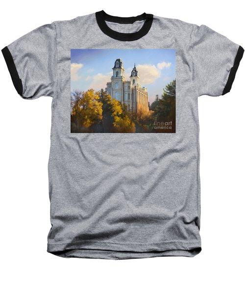 Manti Temple Baseball T-Shirt
