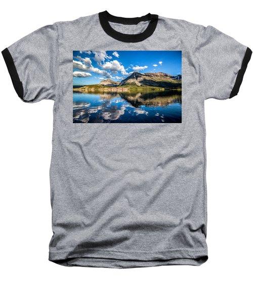 Many Glacier Hotel Baseball T-Shirt
