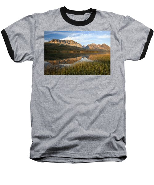 Baseball T-Shirt featuring the photograph Many Glacier Reflections by Jack Bell