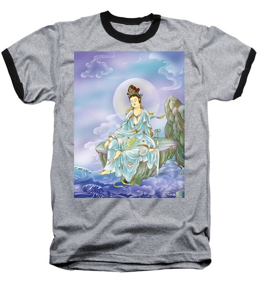 Many Treasures Avalokitesvara  Baseball T-Shirt by Lanjee Chee