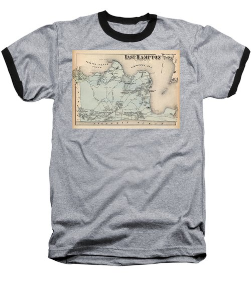 Map Of East Hampton 1873 Baseball T-Shirt
