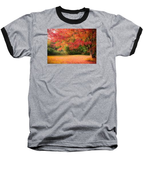 Maple In Red And Orange Baseball T-Shirt