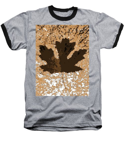 Maple Leaf Brown  Hues Baseball T-Shirt by R Muirhead Art