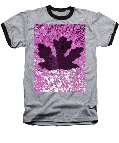 Maple Leaf Purple Pop Poster Hues  Baseball T-Shirt