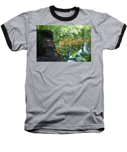 Maple Reflections Baseball T-Shirt by Sharon Elliott