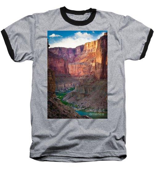Marble Cliffs Baseball T-Shirt by Inge Johnsson