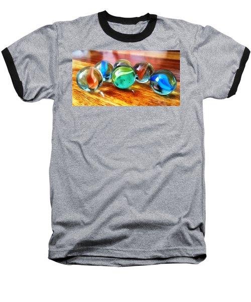 Marble Ducks Baseball T-Shirt