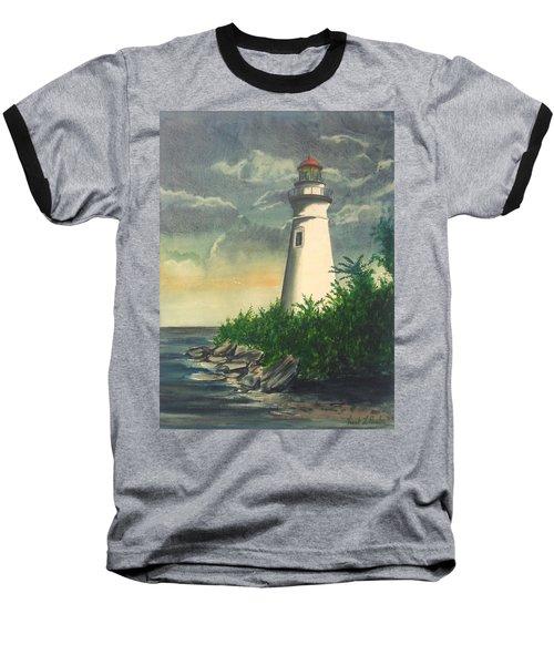 Marblehead Light On Lake Erie Baseball T-Shirt by Frank Hunter