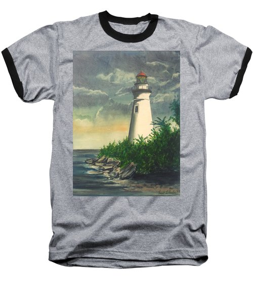 Marblehead Light On Lake Erie Baseball T-Shirt