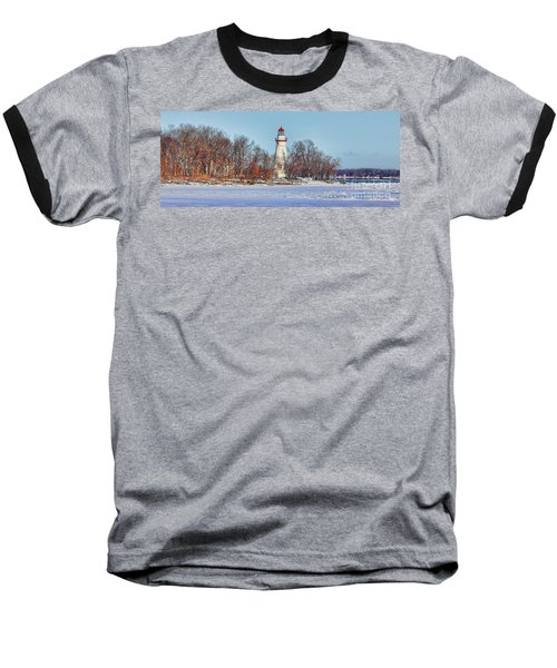Marblehead Lighthouse In Winter Baseball T-Shirt