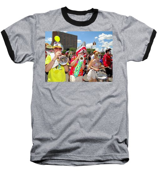 Baseball T-Shirt featuring the photograph Marching Band by Ed Weidman