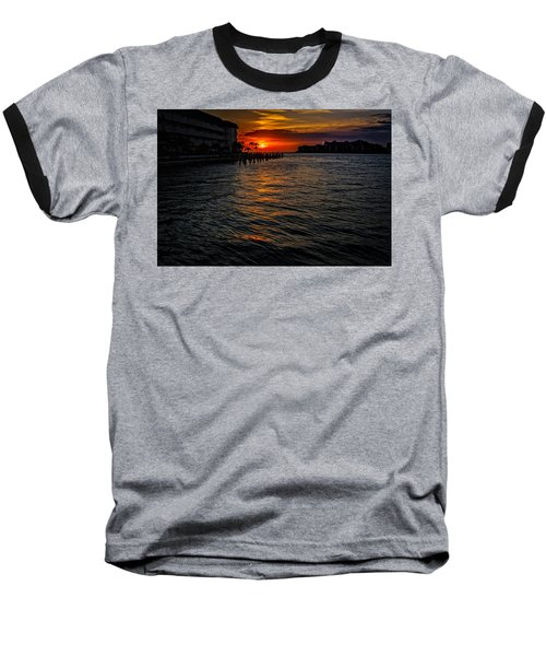 Baseball T-Shirt featuring the photograph Marco Island Sunset 43 by Mark Myhaver