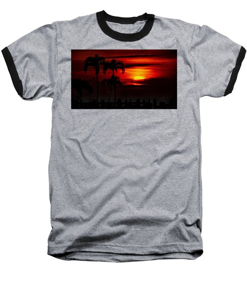 Baseball T-Shirt featuring the photograph Marco Island Sunset 59 by Mark Myhaver