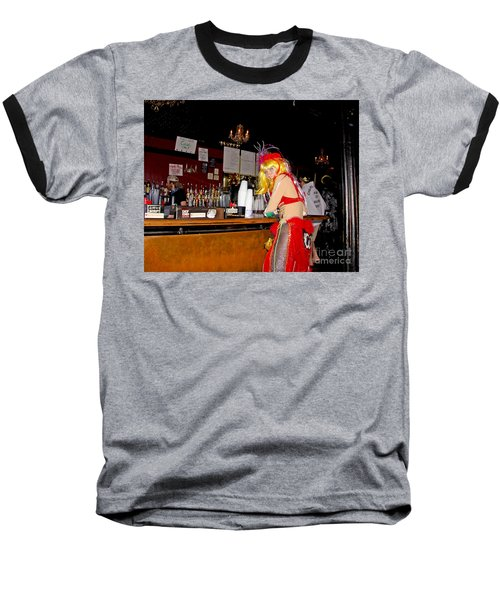 Baseball T-Shirt featuring the photograph Mardi Gras Bar French Quarter by Luana K Perez