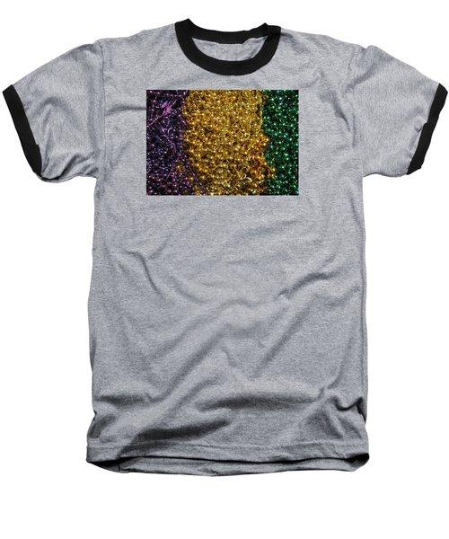 Mardi Gras Beads - New Orleans La Baseball T-Shirt