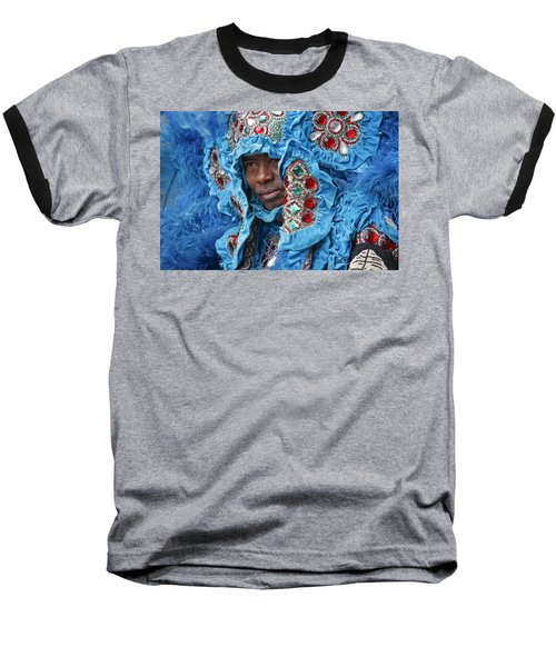 Mardi Gras Indian Baseball T-Shirt