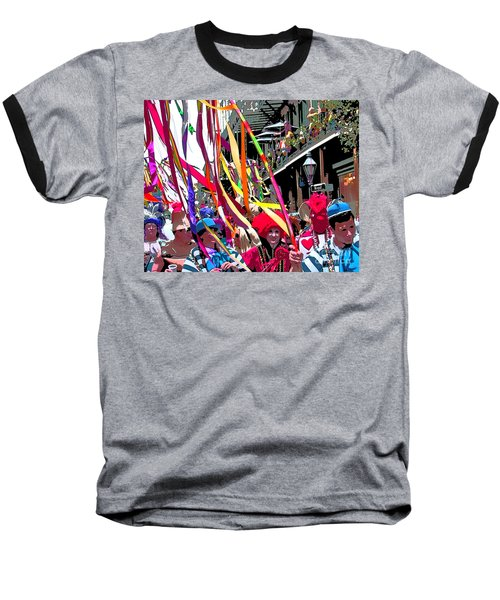 Baseball T-Shirt featuring the photograph Mardi Gras Marching Parade by Luana K Perez