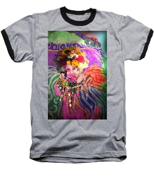 Mardi Gras Queen Baseball T-Shirt