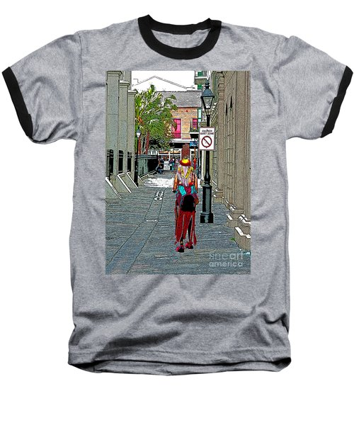 Mardi Gras In French Quarter Baseball T-Shirt by Luana K Perez