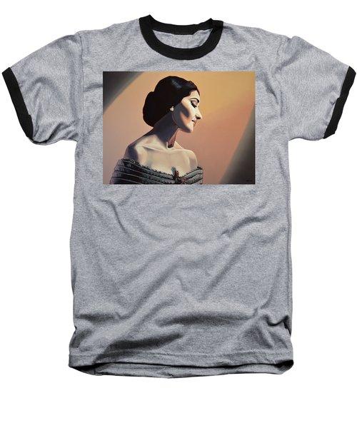 Maria Callas Painting Baseball T-Shirt