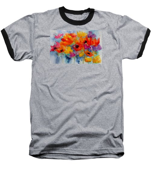 Baseball T-Shirt featuring the painting Marianne's Garden by Anne Duke