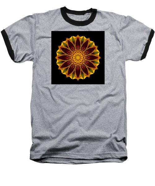 Marigold Flower Mandala Baseball T-Shirt by David J Bookbinder