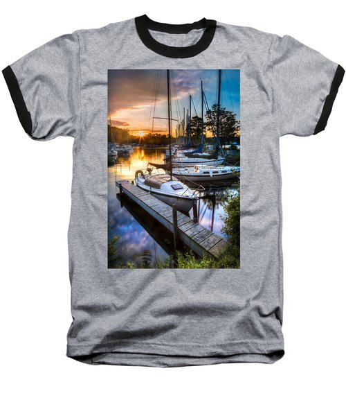 Marina Sunrise Baseball T-Shirt
