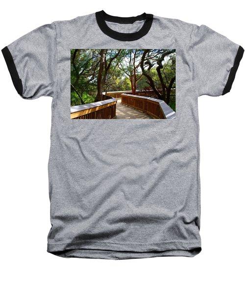 Maritime Forest Boardwalk Baseball T-Shirt by Kathryn Meyer