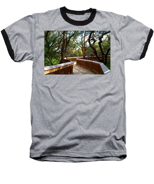 Maritime Forest Boardwalk Baseball T-Shirt