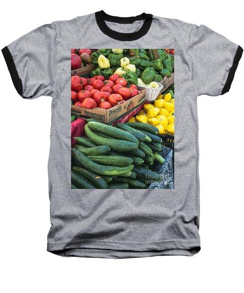 Market Freshness Baseball T-Shirt