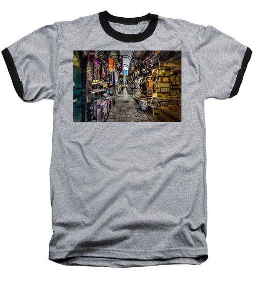 Market In The Old City Of Jerusalem Baseball T-Shirt