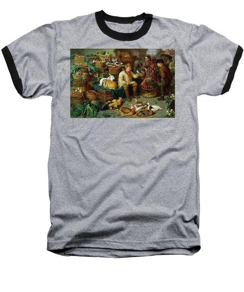 Market Scene Baseball T-Shirt