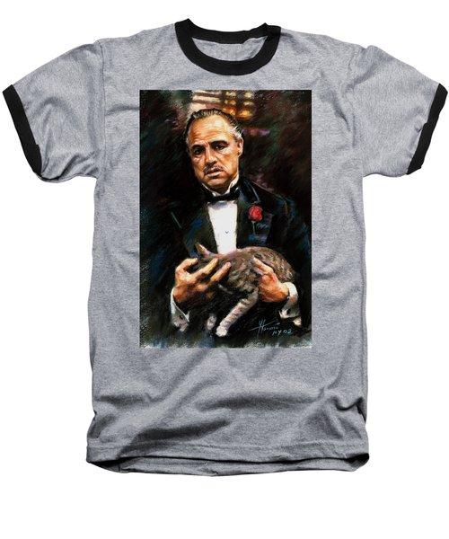 Marlon Brando The Godfather Baseball T-Shirt