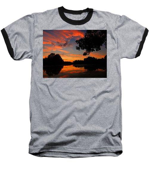 Marlu Lake At Sunset Baseball T-Shirt