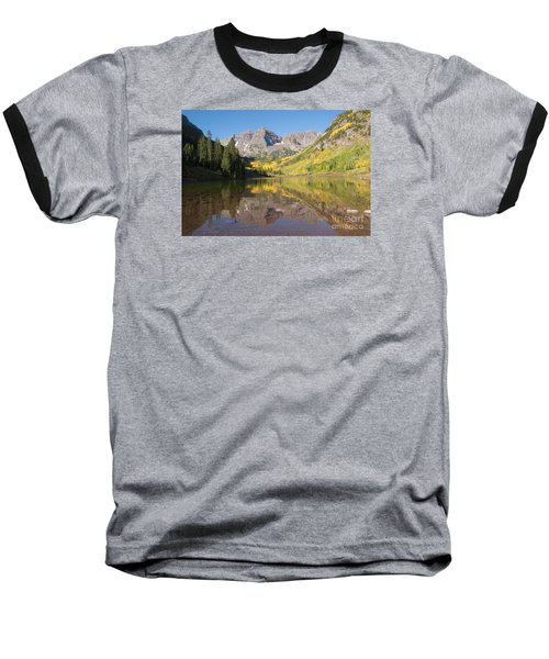 Maroon Bells In Autumn Baseball T-Shirt