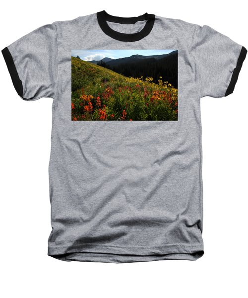 Maroon Bells Wilderness Baseball T-Shirt