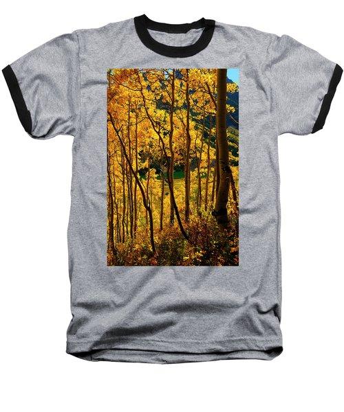 Maroon Lake Gold Baseball T-Shirt by Jeremy Rhoades