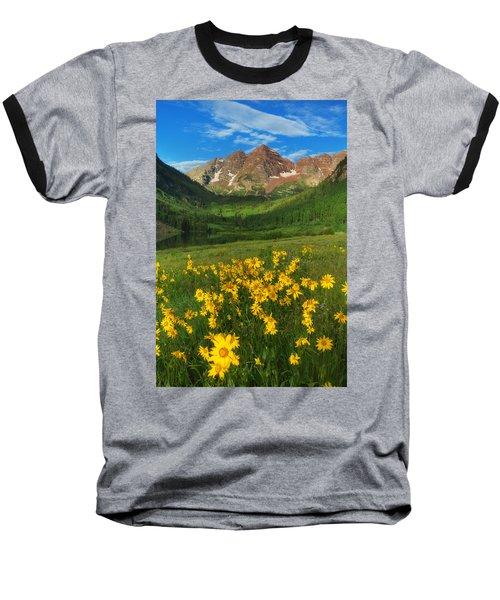 Maroon Summer Baseball T-Shirt