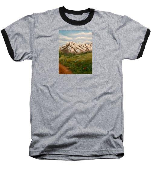 Maroon Trail Splendor Baseball T-Shirt by Sheri Keith
