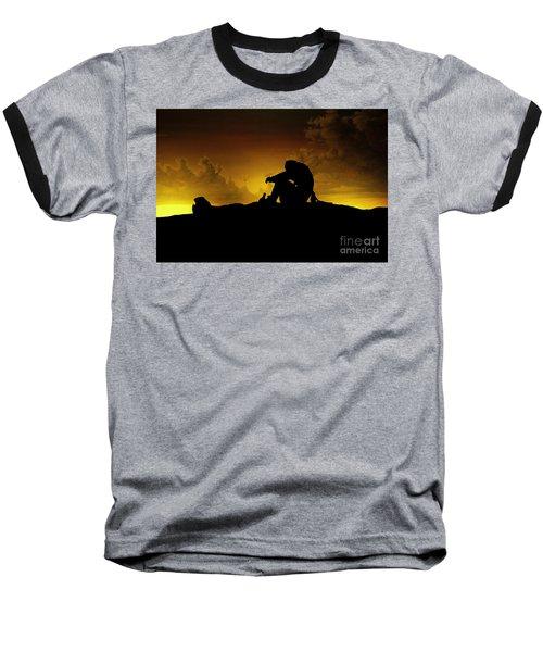 Marooned Pirate Baseball T-Shirt by Phil Cardamone