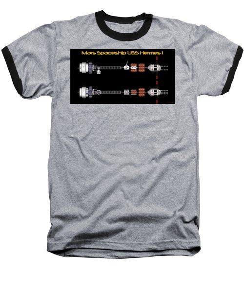 Baseball T-Shirt featuring the digital art Mars Spaceship Hermes1 by David Robinson