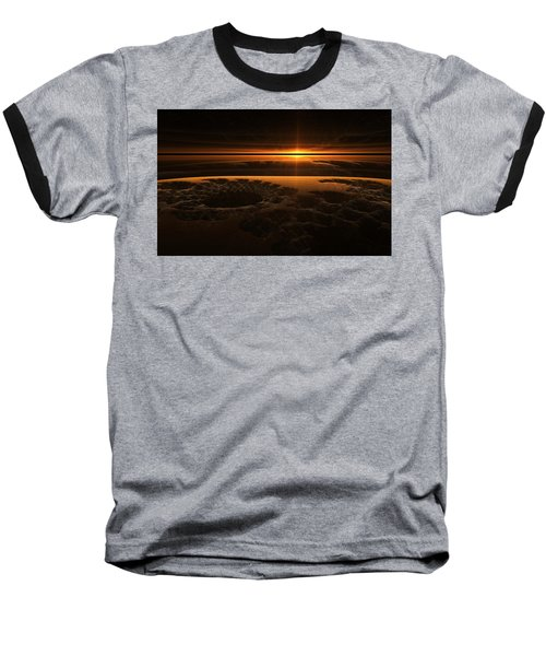 Marscape Baseball T-Shirt by GJ Blackman