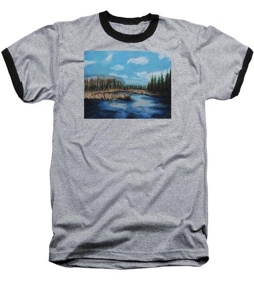 Marshland 1 Baseball T-Shirt by Jeanne Fischer