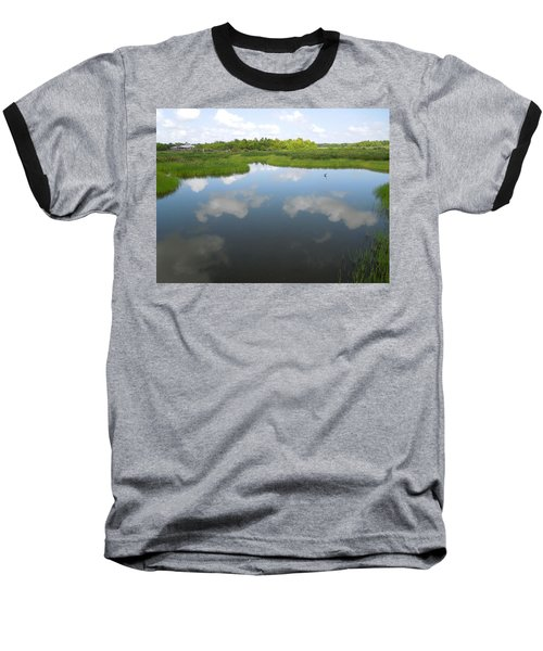 Marshland Baseball T-Shirt by Ron Davidson